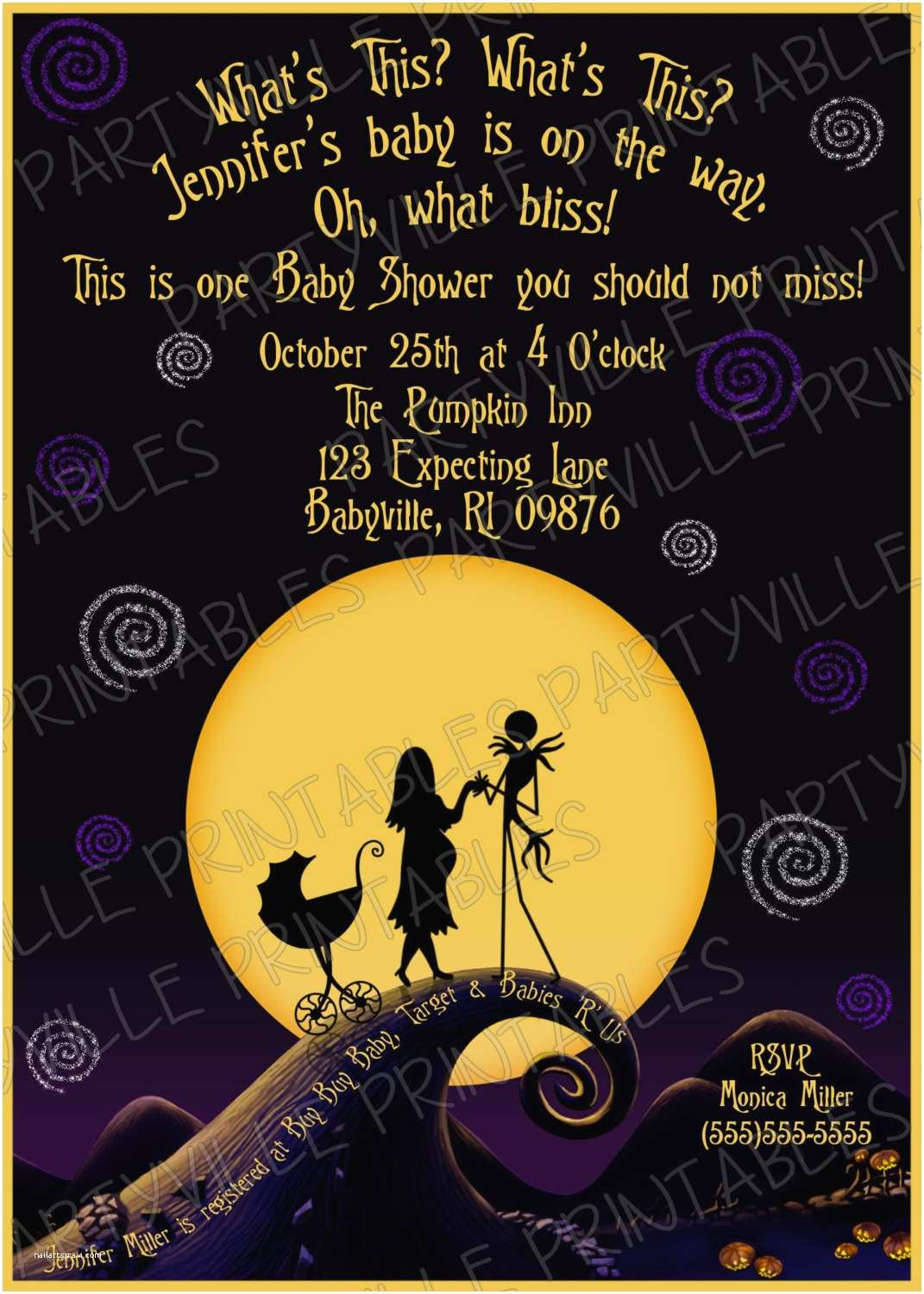 Nightmare before Christmas Wedding Invitations Nightmare before Christmas Invitations Templates Various
