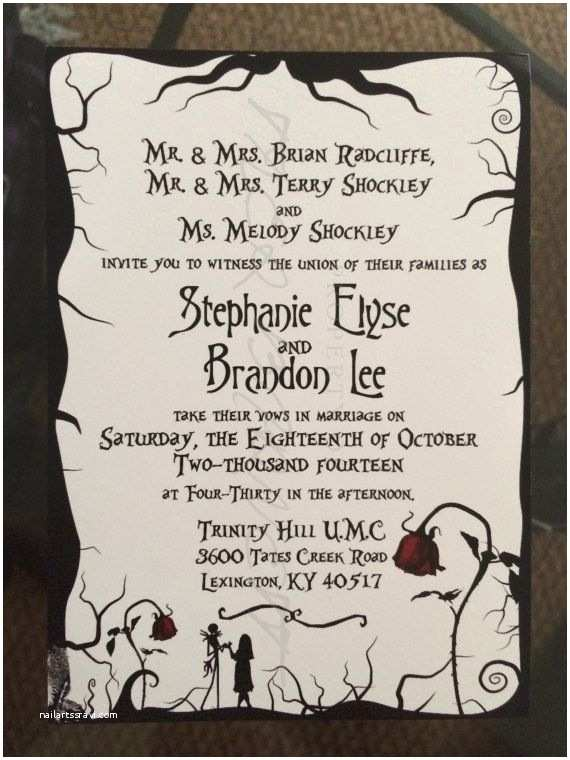 Nightmare before Christmas Wedding Invitations Nightmare before Christmas themed Wedding by