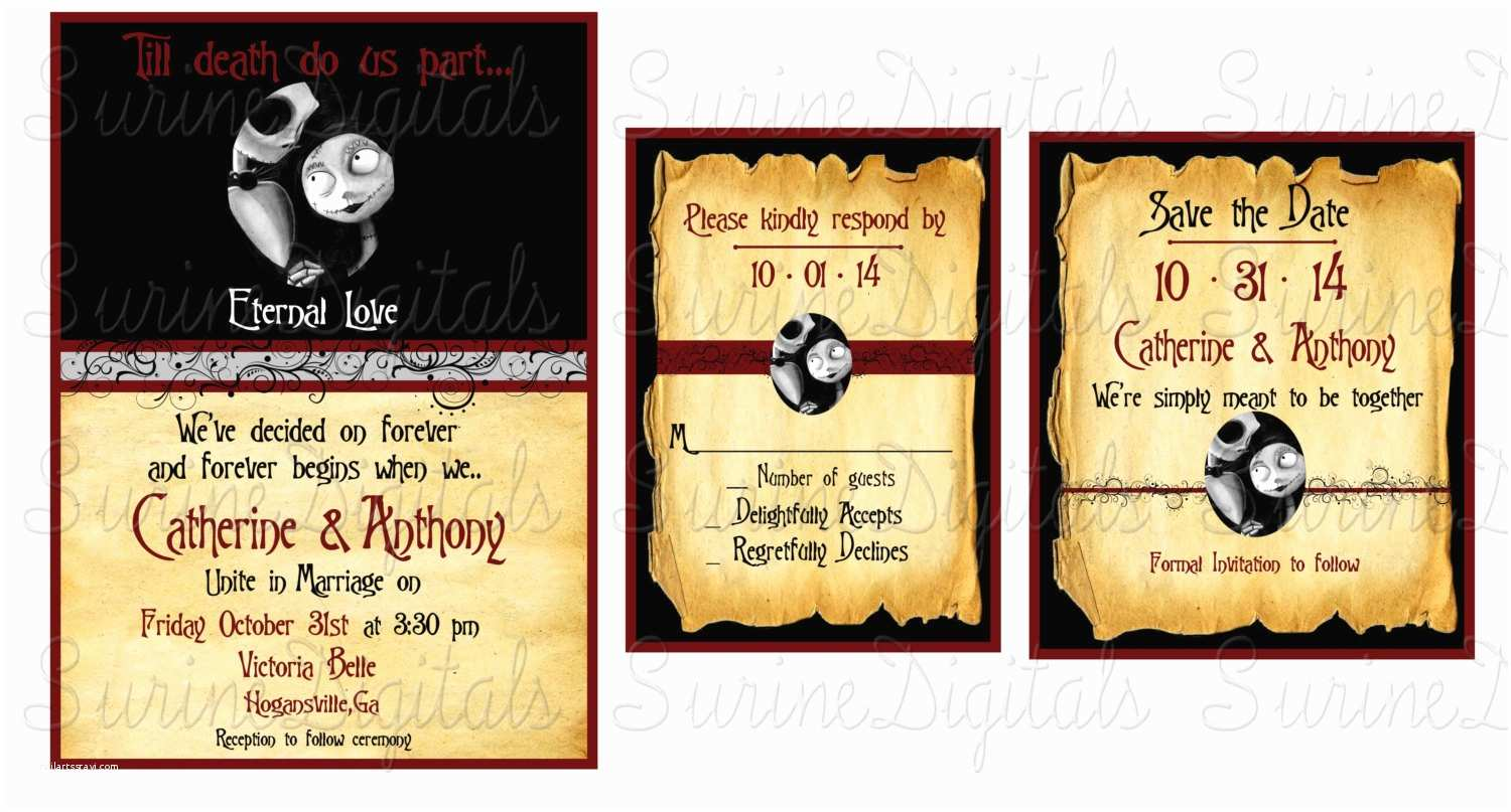 Nightmare before Christmas Wedding Invitations Nightmare before Christmas Wedding Invitation by
