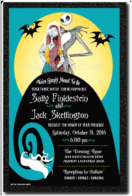 Nightmare before Christmas Wedding Invitations Nightmare before Christmas Wedding Invitations [di 5050