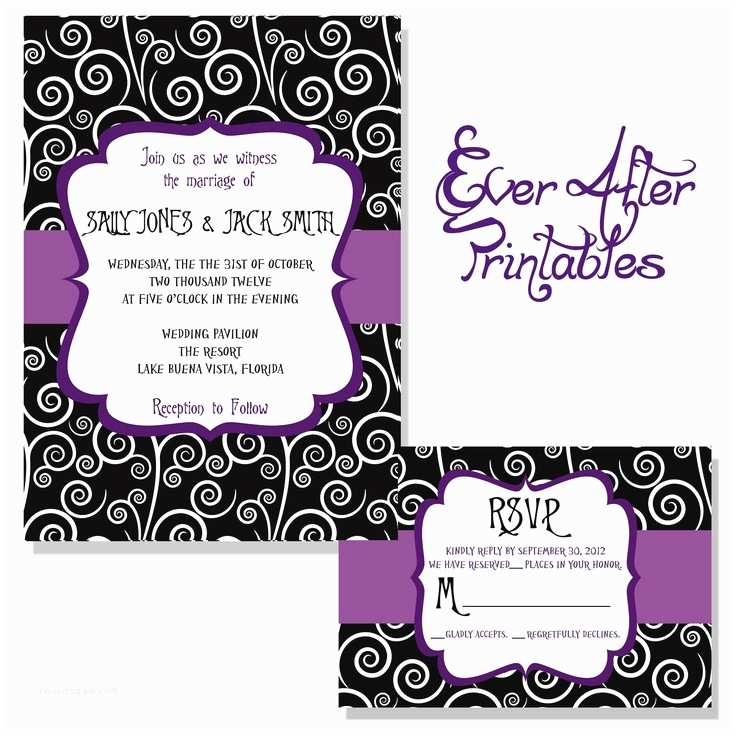 Nightmare before Christmas Wedding Invitations Nightmare before Christmas Wedding Invitations