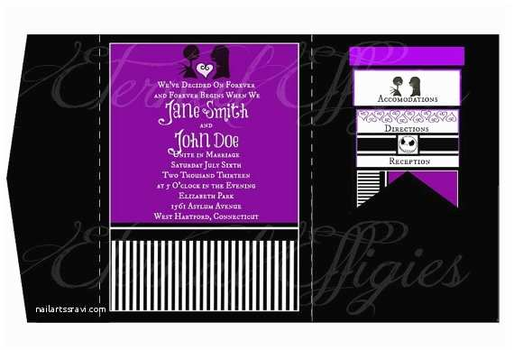 Nightmare before Christmas Wedding Invitations Skellington Wedding Nightmare before Christmas by