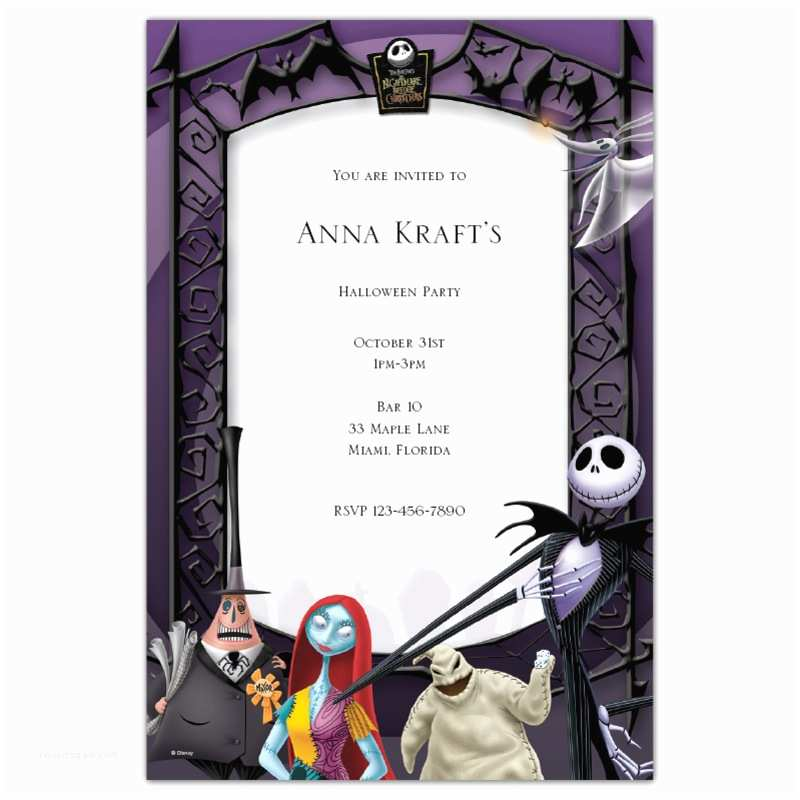Nightmare before Christmas Wedding Invitations the Nightmare before Christmas