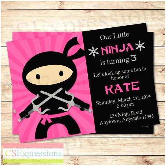 Ninja Party Invitations 25 Best Ideas About Ninja Girl On Pinterest