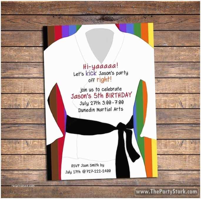 Ninja Party Invitations Best 25 Karate Birthday Ideas On Pinterest