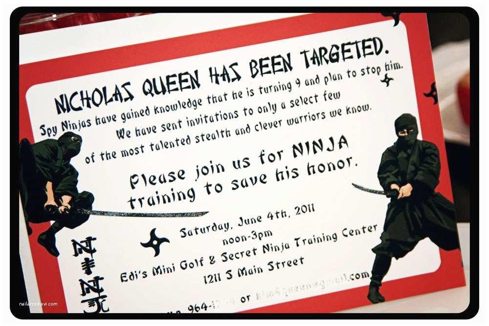 Ninja Party Invitations Hi Ya Ninja Party Printable Invitation By Monkeymoomoo On