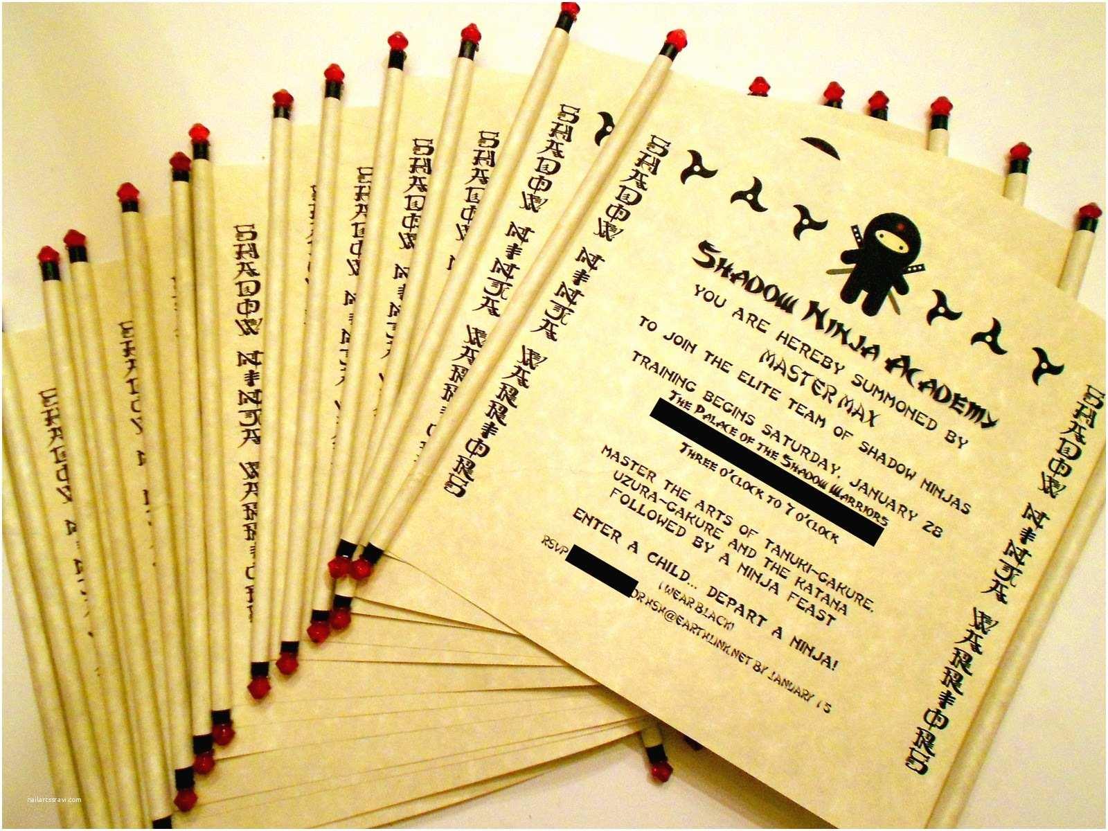 Ninja Party Invitations Jennuine by Rook No 17 Ninja Birthday Party Part Ii