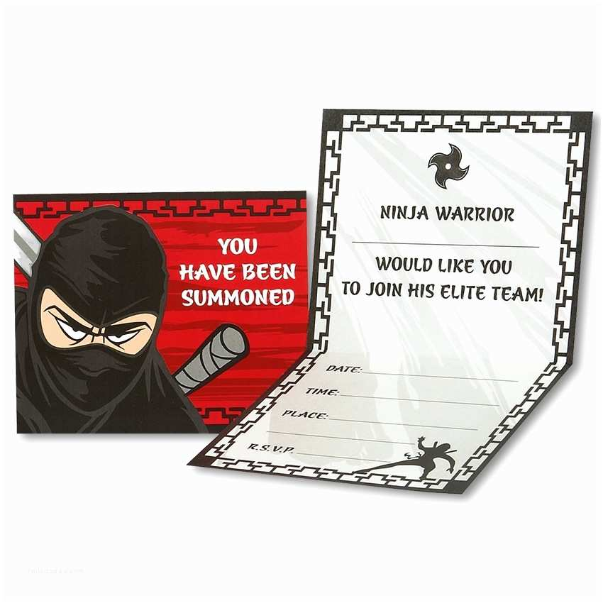 Ninja Party Invitations Ninja Warrior Party Invitations Ninja Warrior Postcard