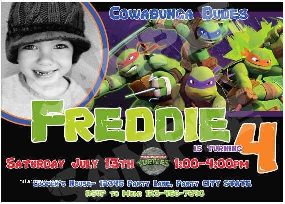 Ninja Turtle Birthday Invitations Teenage Mutant Ninja Turtles Birthday Invitations for Kids