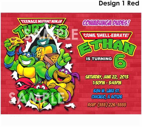 picture relating to Ninja Turtles Birthday Invitations Printable known as Ninja Turtle Birthday Invites Teenage Mutant Ninja