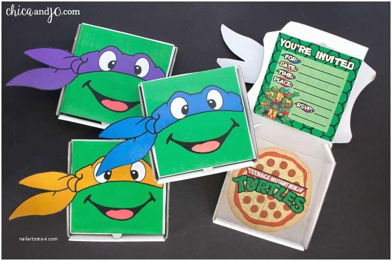 Ninja Turtle Birthday Invitations Teenage Mutant Ninja Turtles Party Favors and Invitations