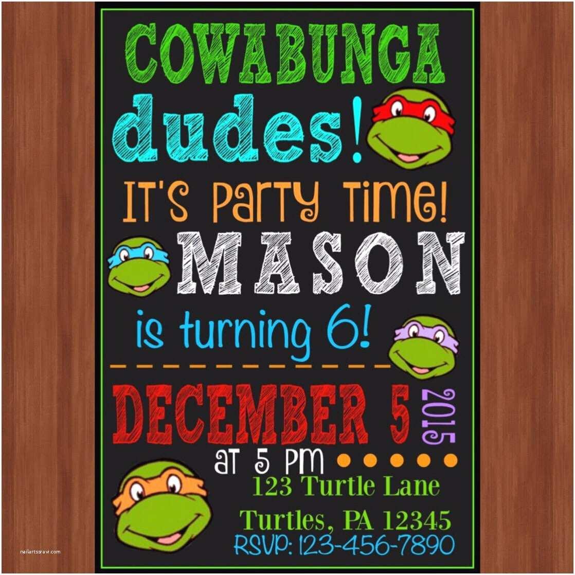 Ninja Turtle Birthday Invitations Tips Easy to Create Ninja Turtle Birthday Invitations