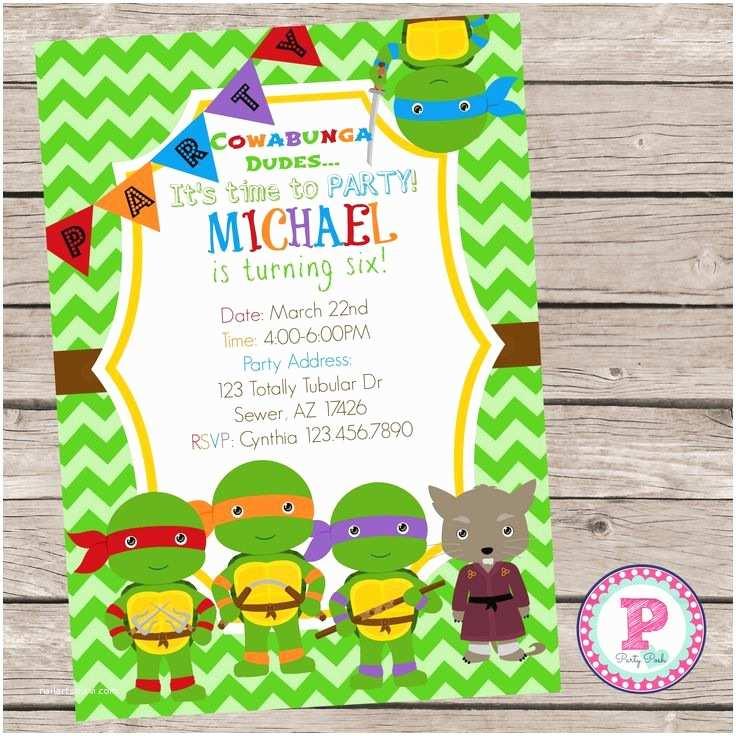 Ninja Turtle Party Invitations 17 Best Images About Ninja Turtle Party On Pinterest