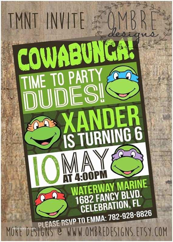 Ninja Turtle Party Invitations Best 25 Ninja Turtle Invitations Ideas On