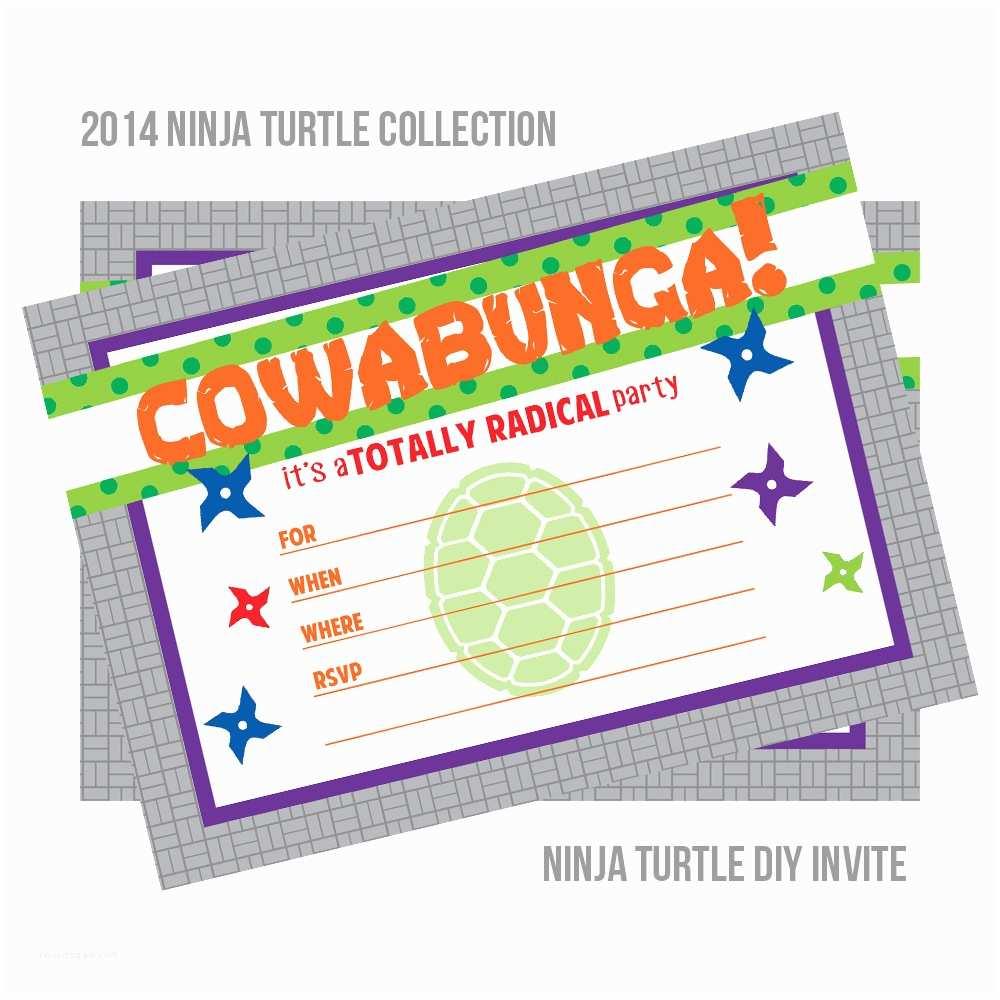 Ninja Turtle Party Invitations Diy Printable Teenage Mutant Ninja Turtle Birthday