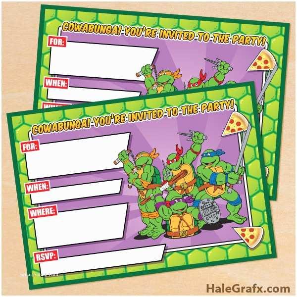 Ninja Turtle Party S Free Printable Retro Tmnt Ninja Turtle Birthday