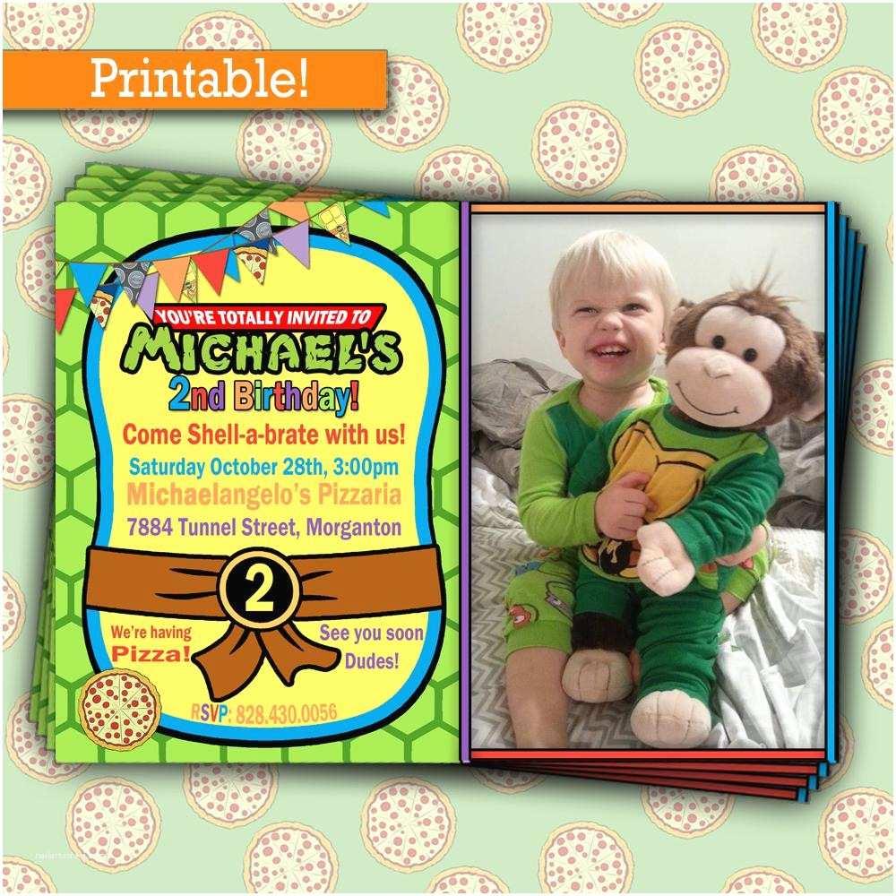 Ninja Turtle Party Invitations Ninja Turtle Birthday Invitations Printable Free