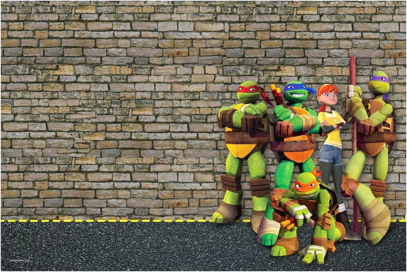 Ninja Turtle Party Invitations Ninja Turtles Free Party Printables and Invitations
