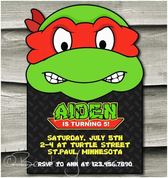 Ninja Turtle Party Invitations Printable Teenage Mutant Ninja Turtles Inspired Birthday