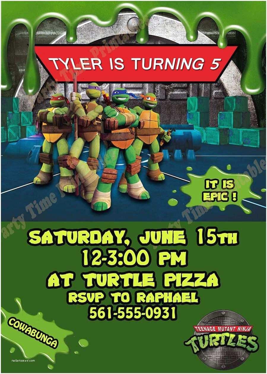 Ninja Turtle Party Invitations Teenage Mutant Ninja Turtles Invitation By Like
