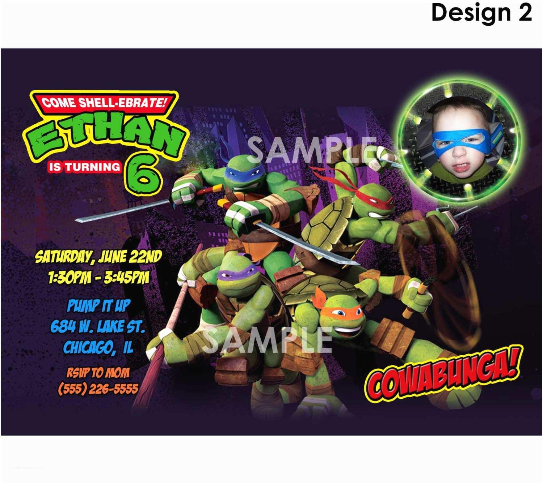 Ninja Turtle Party Invitations Teenage Mutant Ninja Turtles Invitation Printable