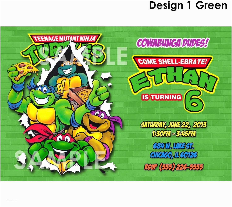Ninja Turtle Party Invitations Teenage Mutant Ninja Turtles Invitations