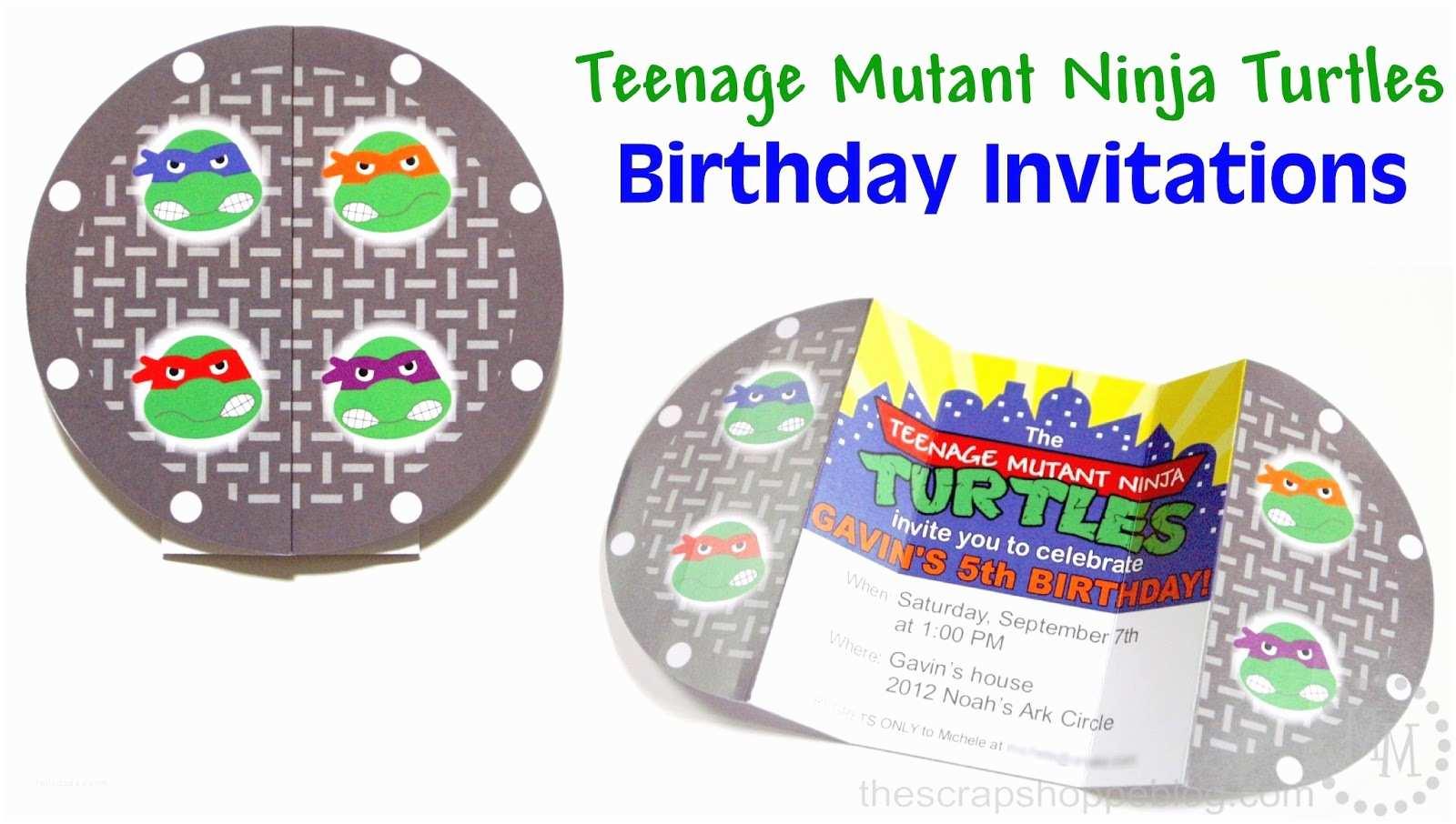 Ninja Turtle Party  Teenage Mutant Ninja Turtles Tmnt Birthday