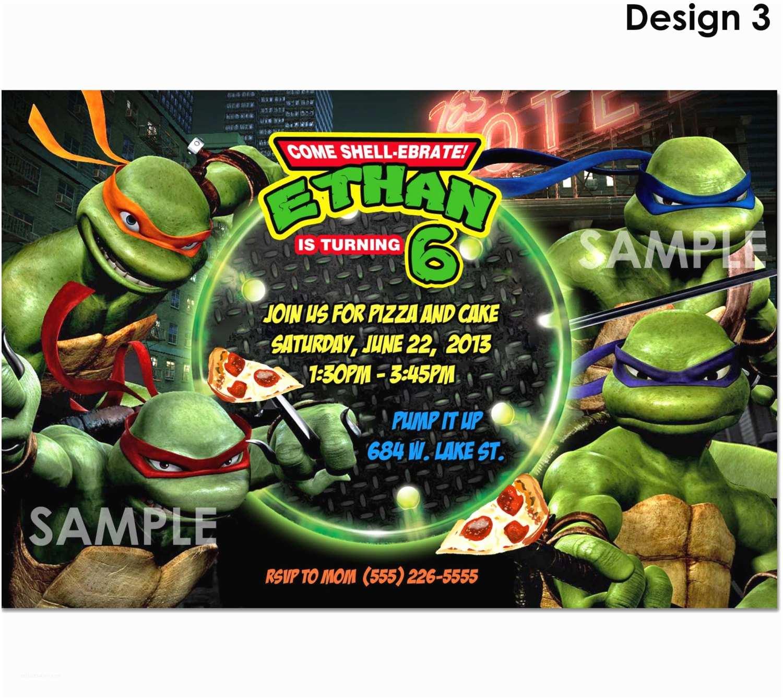 Ninja Turtle Party Invitations Tmnt Teenage Mutant Ninja Turtles Invitation
