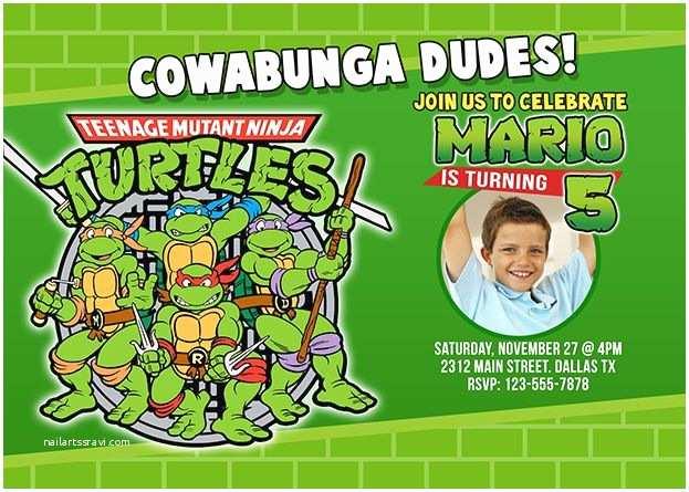 Ninja Turtles Birthday Invitations 17 Best Images About Kids Character Invitations On