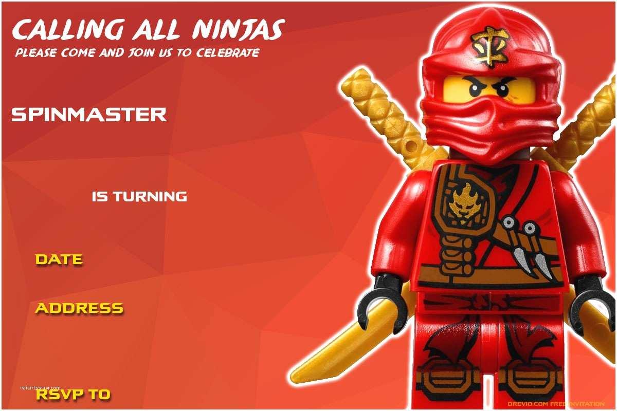 Ninjago Party Invitations Free Printable Lego Ninjago Birthday Invitation