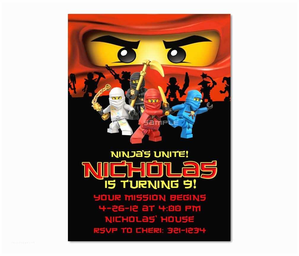 Ninjago Party Invitations Ninjago Birthday Invitations Ninjago Birthday Invitations