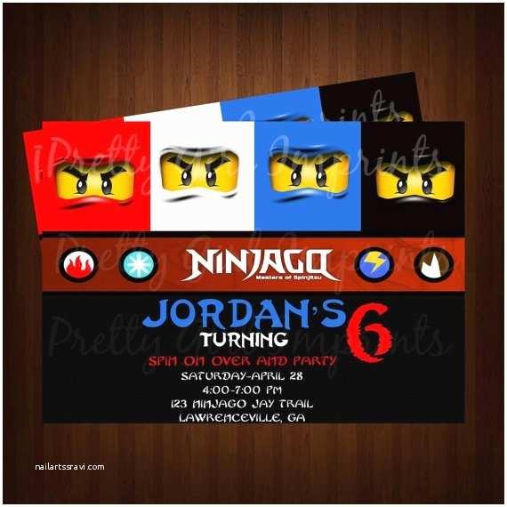 Ninjago Party Invitations Ninjago Invites Riley S Ninjago Party