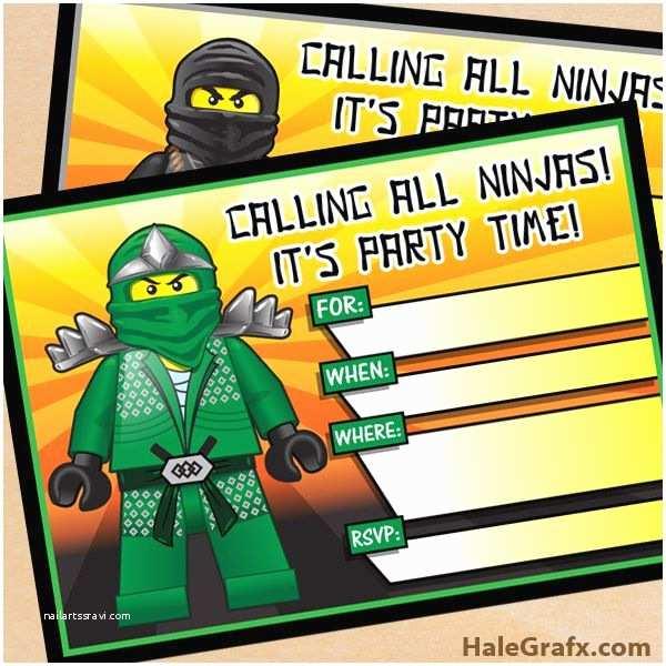 Ninjago Party Invitations Ninjago Party Invites Free Printable Lego Ninjago Birthday