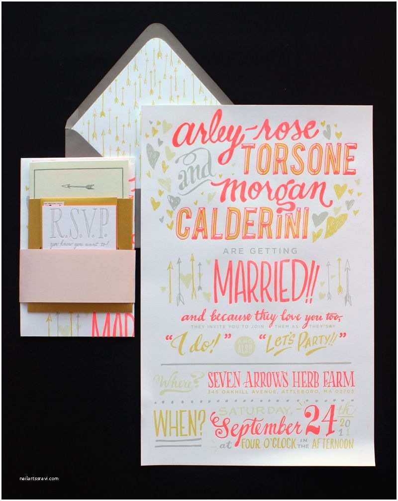 Non Traditional Wedding Invitations Ladyfingers Letterpress