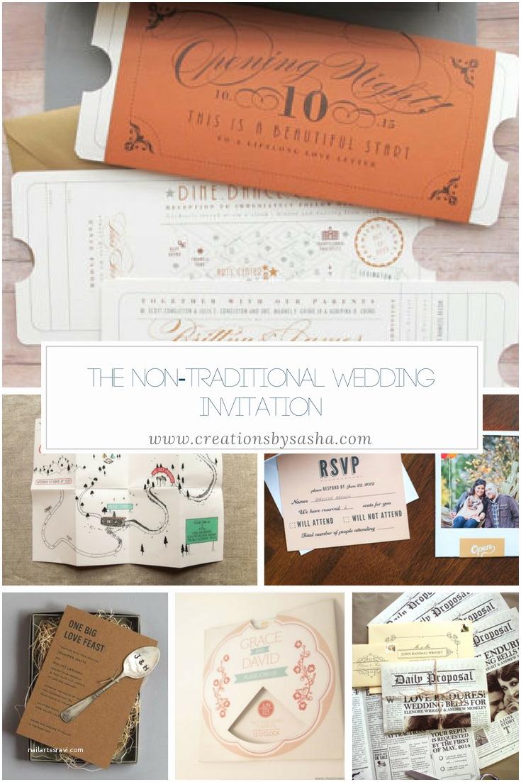 Non Traditional Wedding Invitations the Non Traditional Wedding Invitation