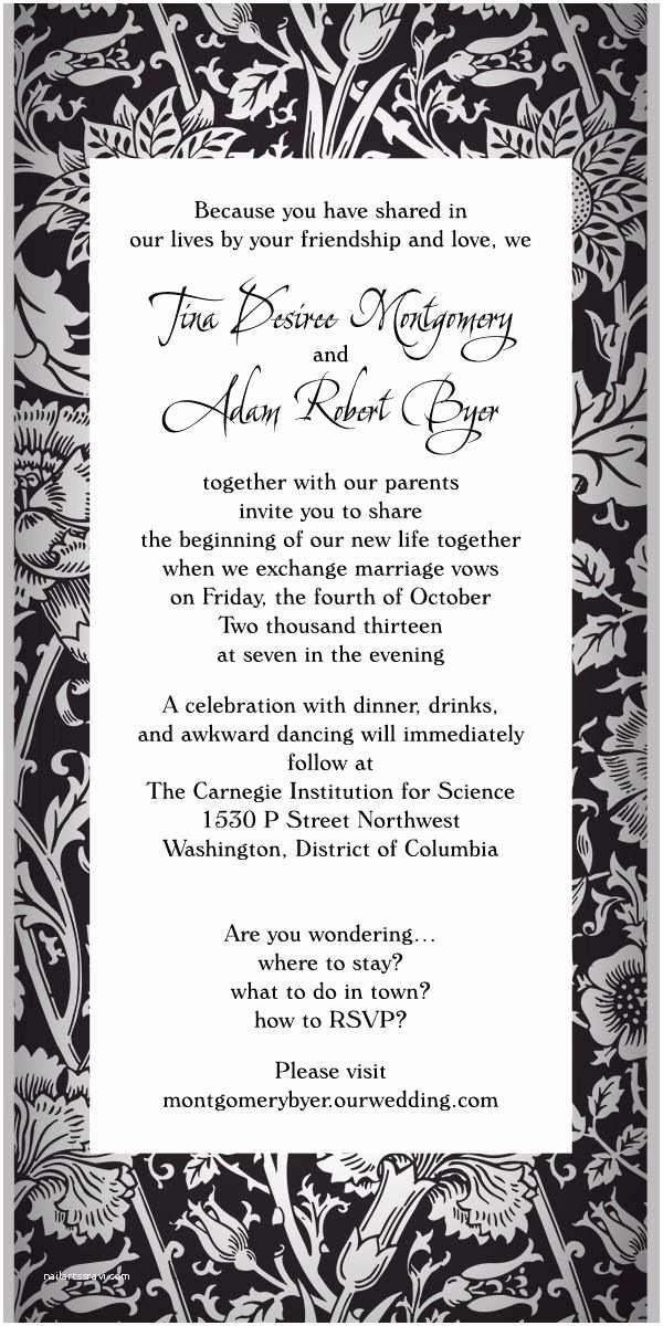 Non Traditional Wedding Invitations Wedding Invitation Wording Wedding Invitation Wording Non