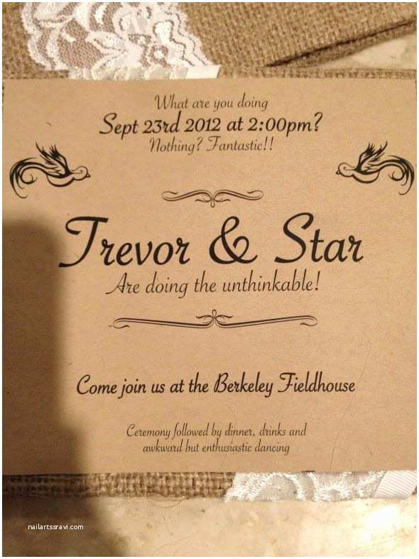 Non Traditional Wedding Invitations Your Non Traditional Wording On Your Invites