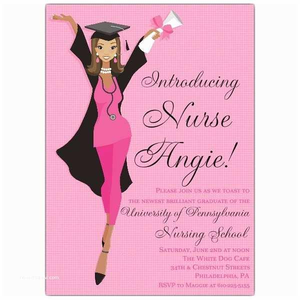 Nurse Graduation Invitations African American Nurse Graduation Invitations