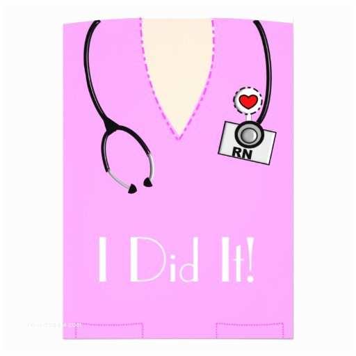 Nurse Graduation Invitations Nurse Graduation Invitations Pink