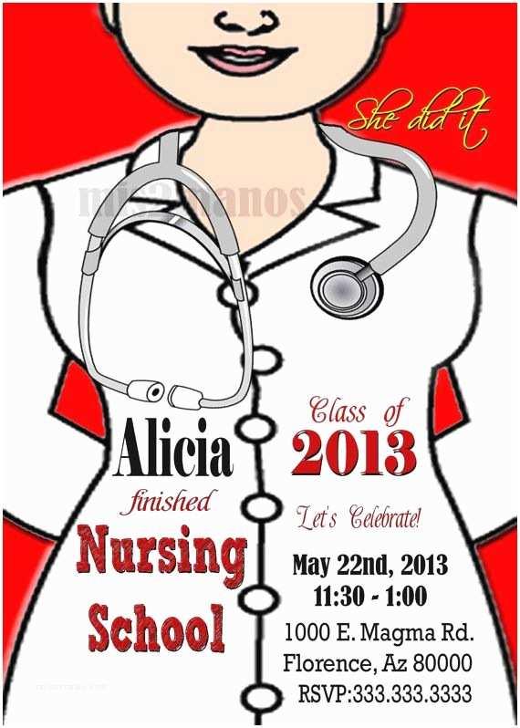 Nursing Graduation Invitations 183 Best Graduation Nursing Party Images On Pinterest