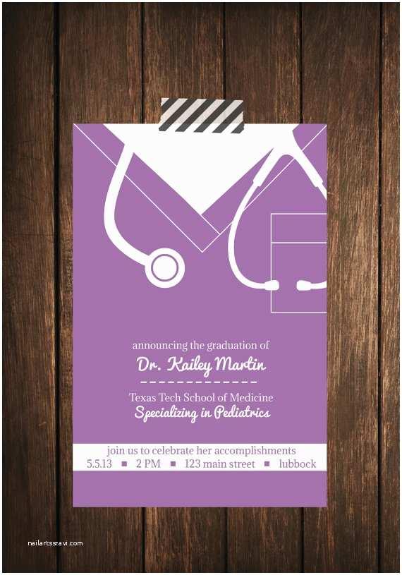 Nursing School Graduation Invitations Nurse Bling Custom Graduation Invitations
