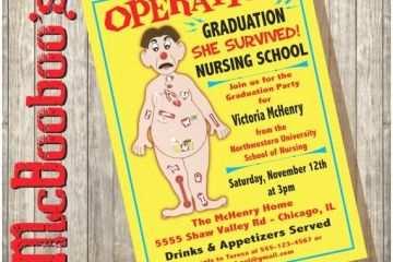 Nursing School Graduation Invitations Operation Board Game