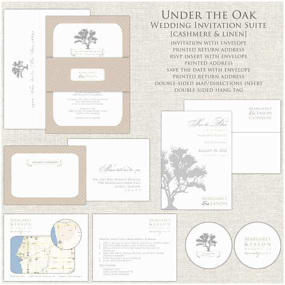 Oak Tree Wedding Invitations Oak Tree Wedding Invitation Fall Wedding Invitations Wedding