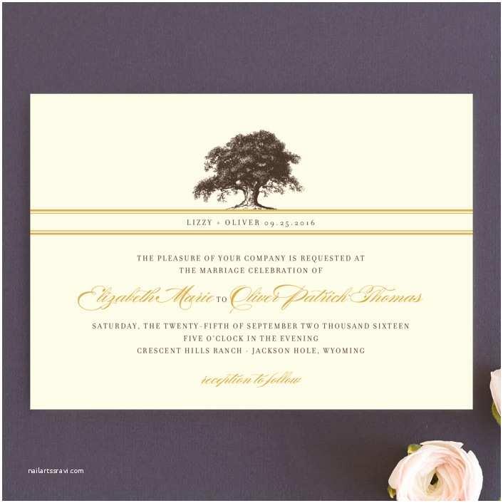 Oak Tree Wedding Invitations Oak Tree Wedding Invitations by Annie Clark