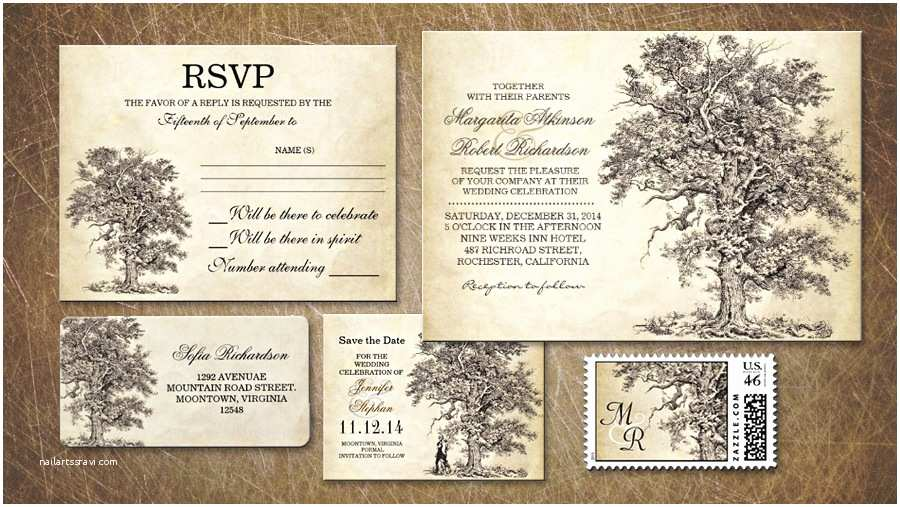 Oak Tree Wedding Invitations Read More – Old Oak Tree Wedding Invitation