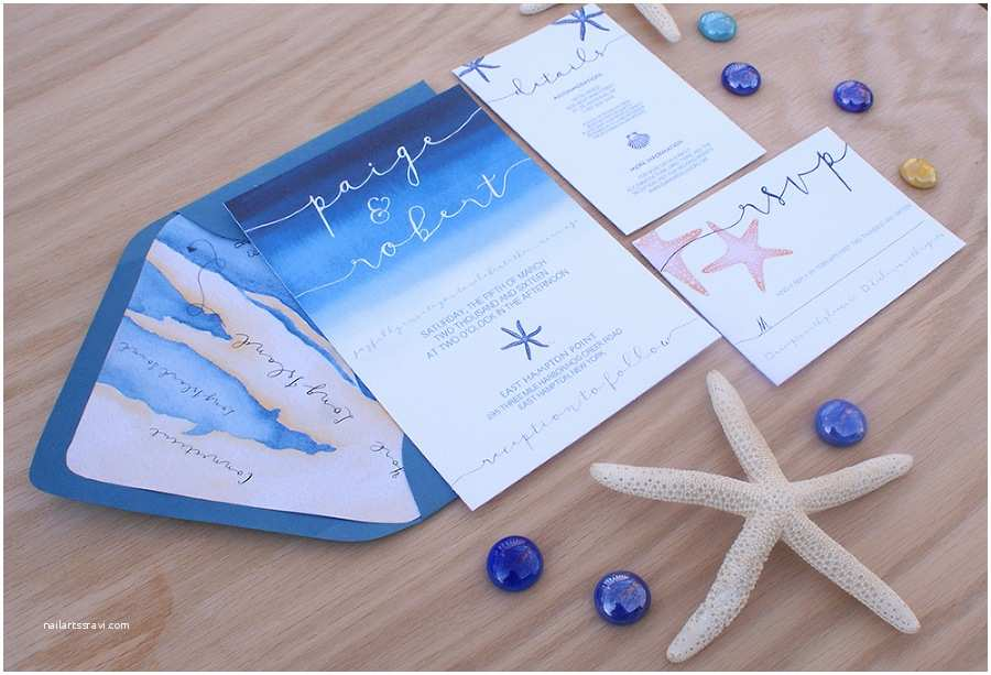 Ocean Themed Wedding Invitations Invitation With A Map