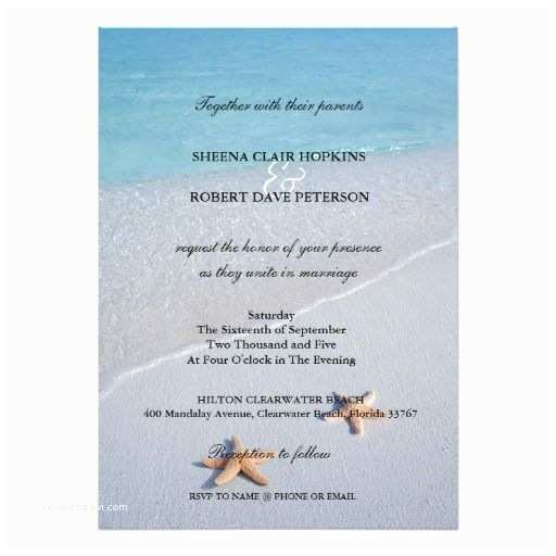 Ocean themed Wedding Invitations Two Of Us
