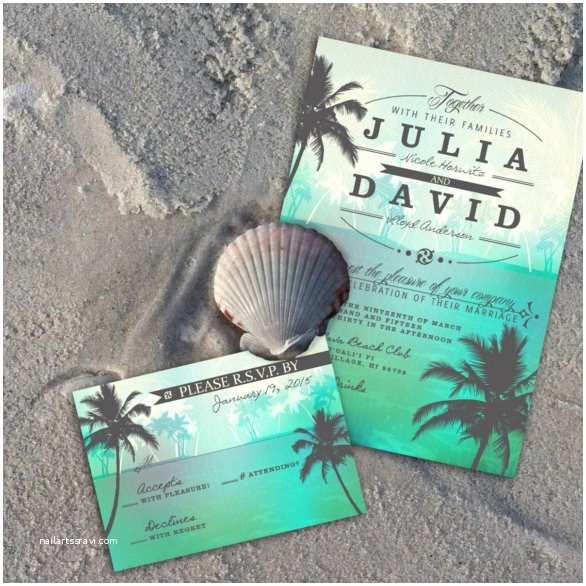 Ocean Wedding Invitations 25 Beach Wedding Invitation Templates – Free Sample