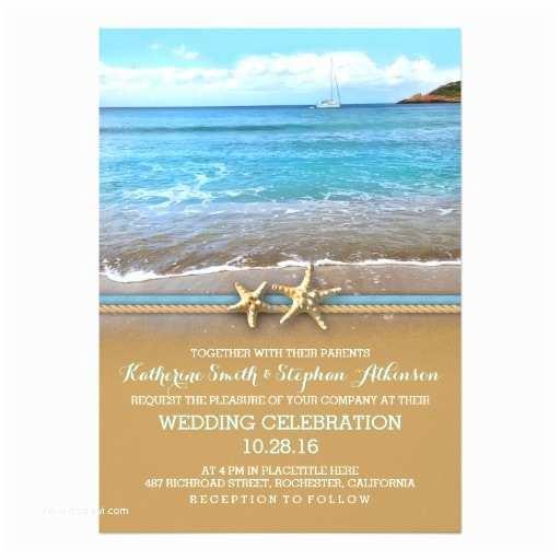 Ocean Wedding Invitations Beach Sea Wedding Invitations