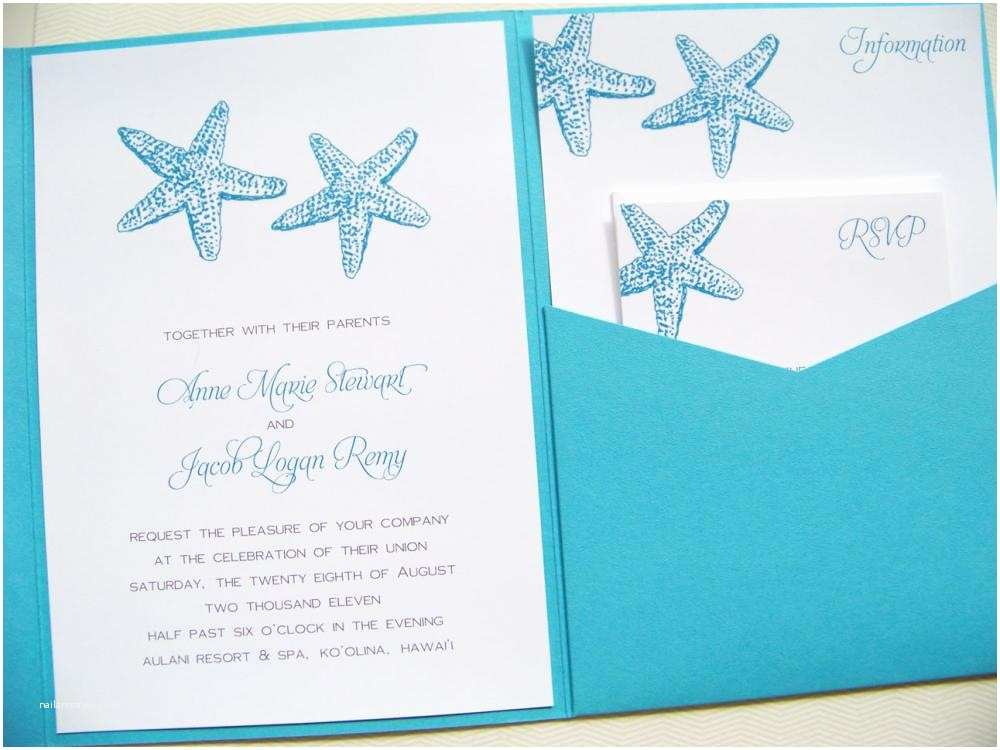 Ocean Wedding Invitations Pocketfold Wedding Invitations by the Sea Signature